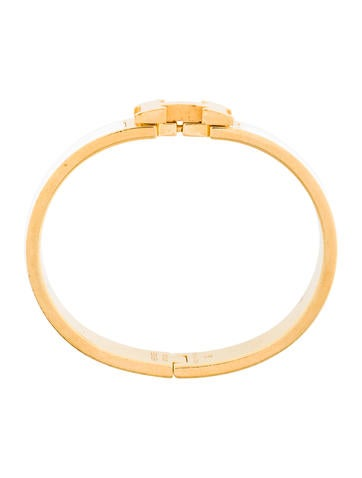 Herm s narrow clic clac h bracelet bracelets her90612 the realreal - Dimensions clic clac ...