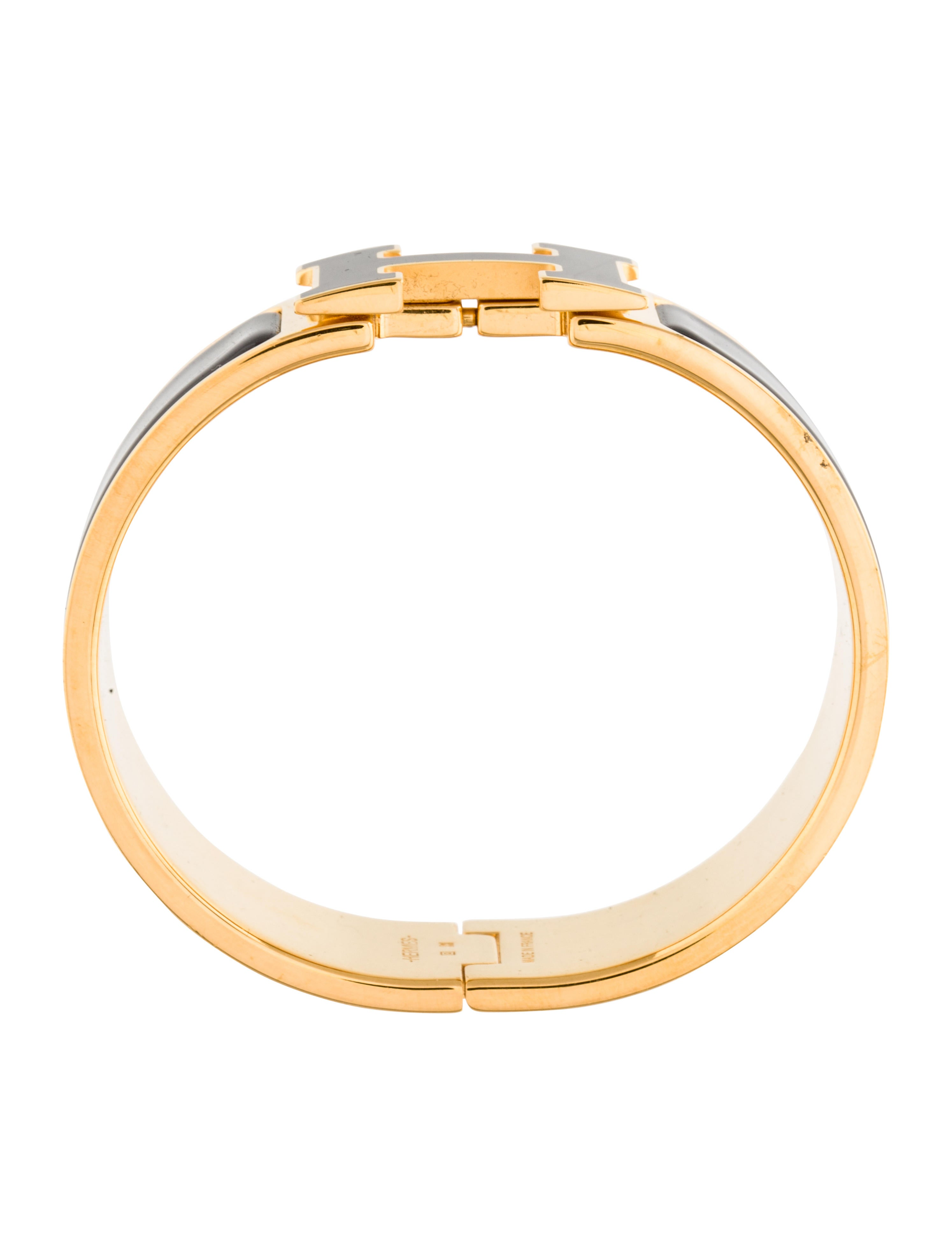 herm 232 s clic clac h bracelet bracelets her91606 the realreal