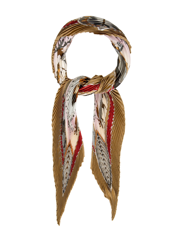 herm 232 s la vie du grand nord silk pliss 233 scarf