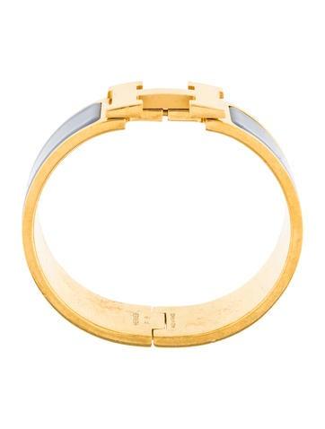herm s wide clic clac h bracelet bracelets her92038 the realreal. Black Bedroom Furniture Sets. Home Design Ideas