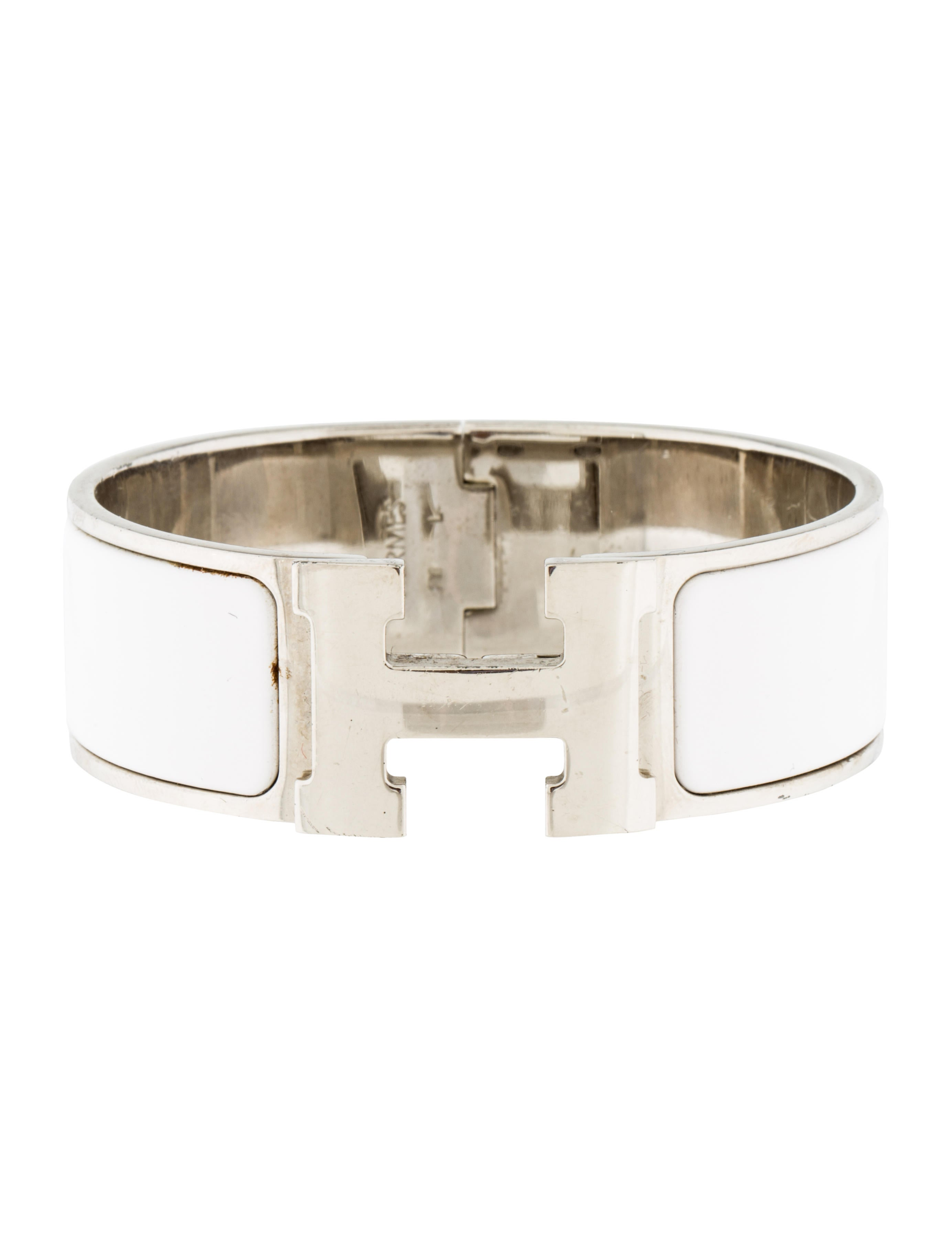 Herm s wide clic clac h bracelet bracelets her92078 the realreal - Dimensions clic clac ...