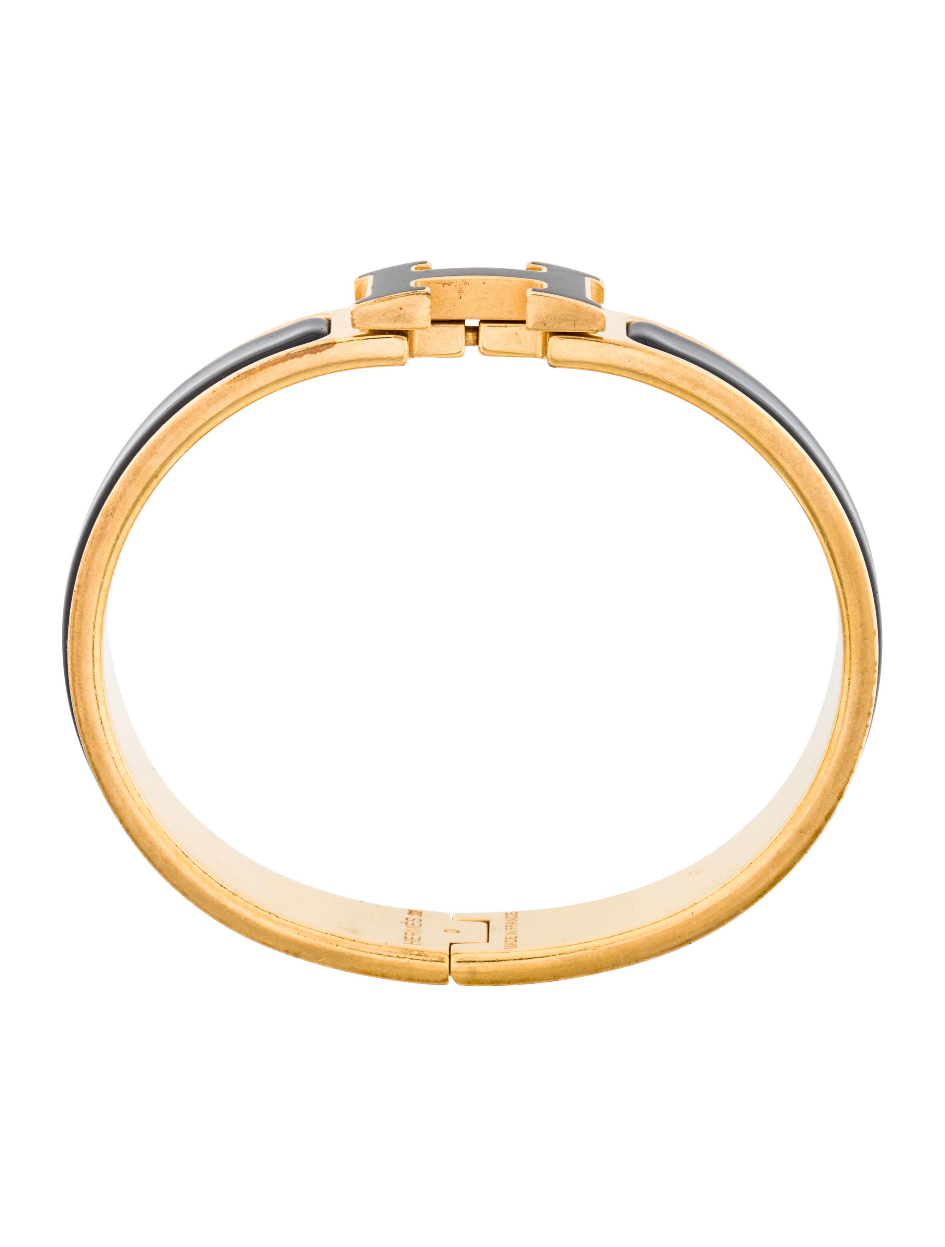 herm s narrow clic clac h bracelet bracelets her92132. Black Bedroom Furniture Sets. Home Design Ideas