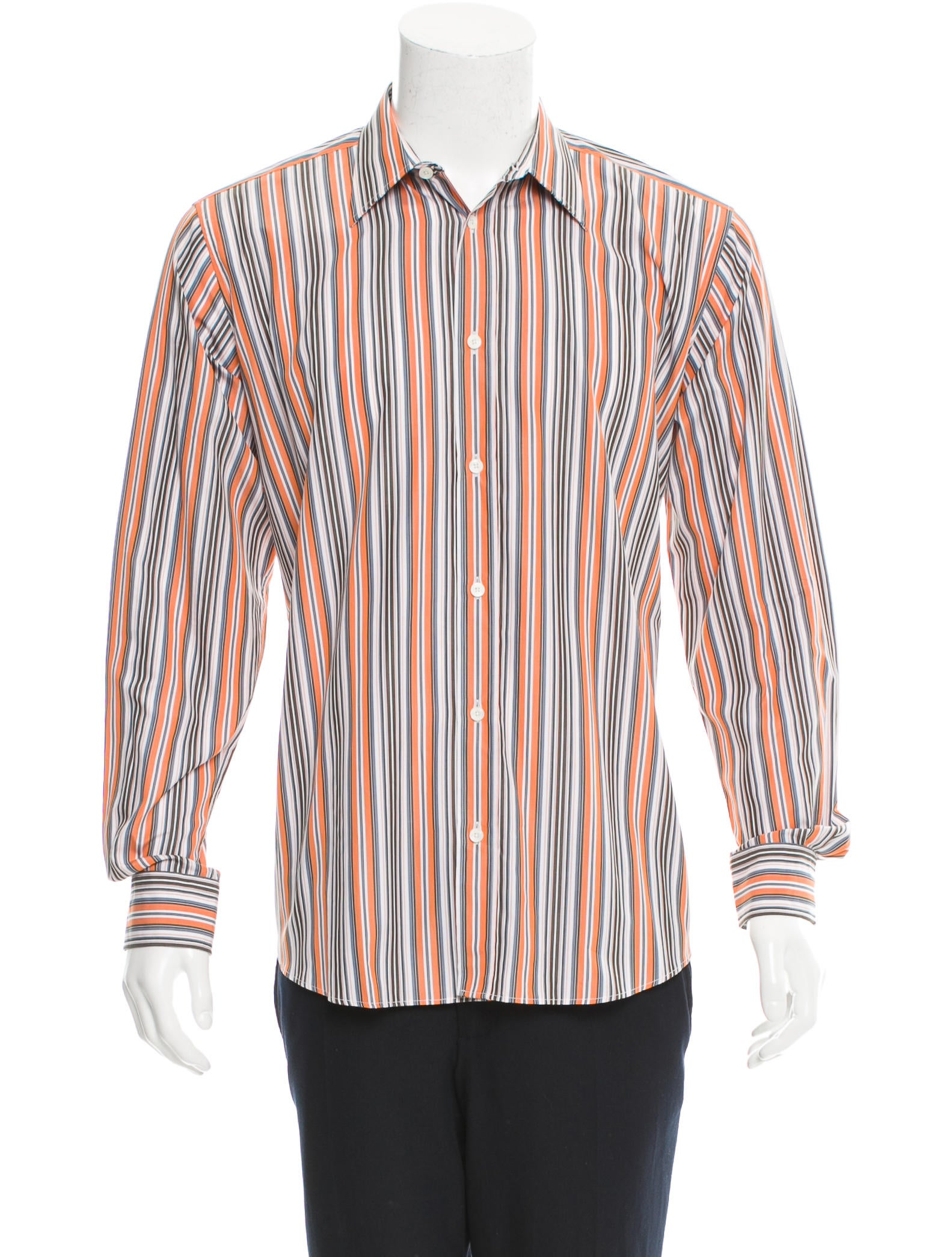Herm s striped button up shirt clothing her92598 the for Striped button up shirt mens