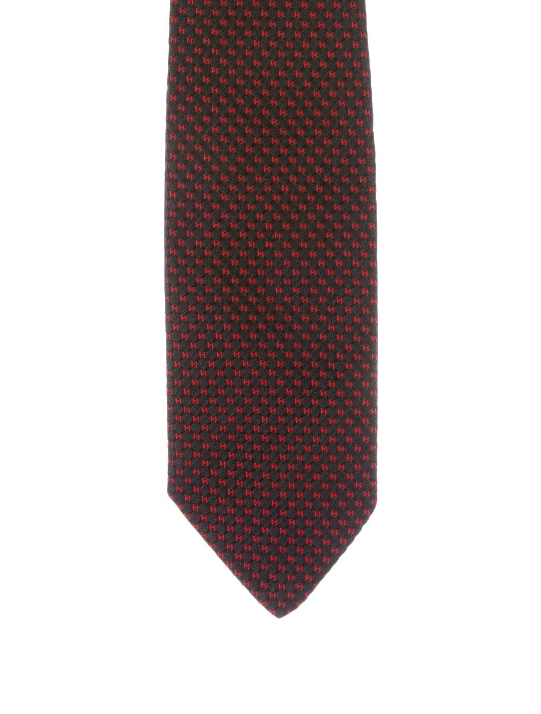herm232s silk jacquard h tie suiting accessories