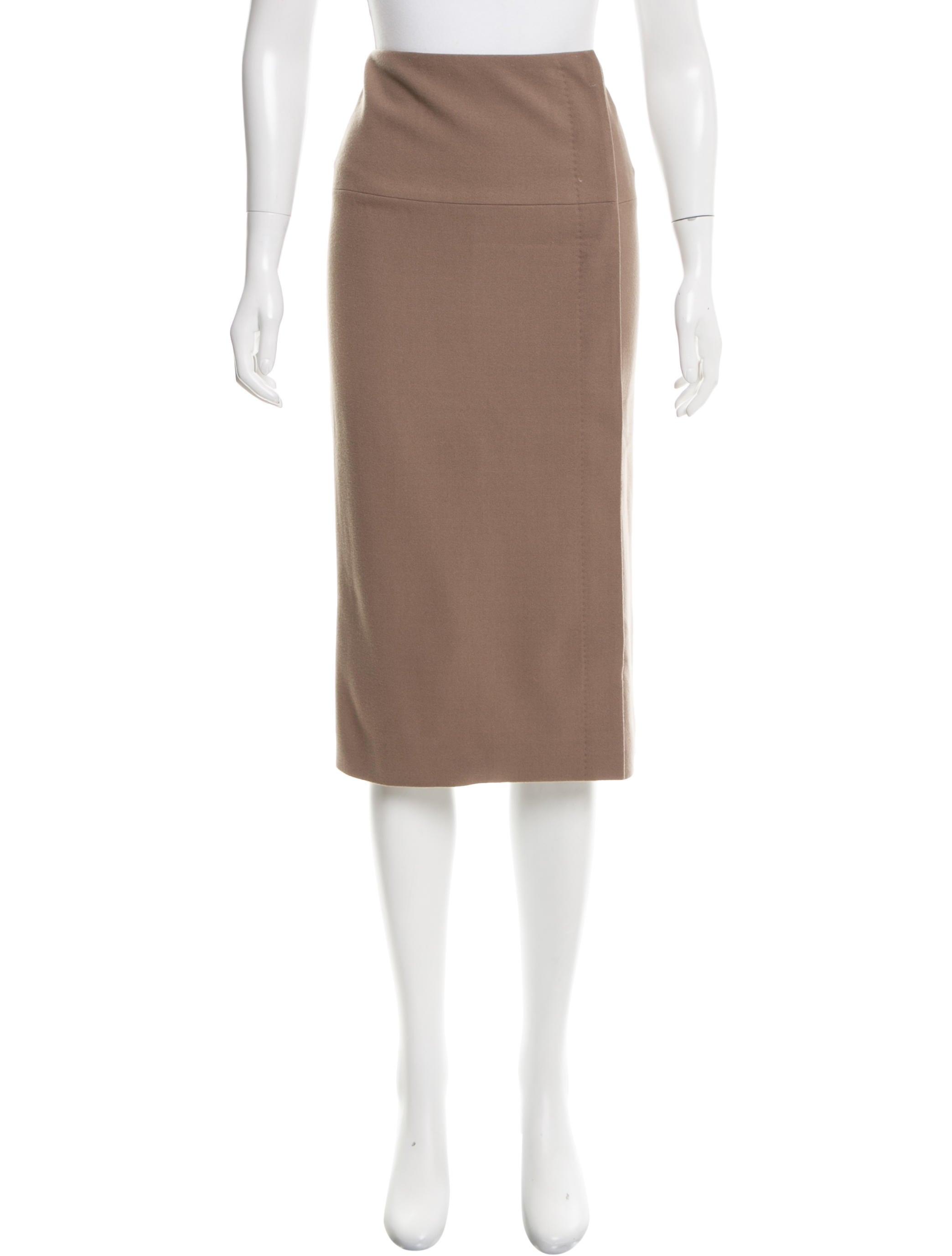 herm 232 s wool knee length skirt clothing her92926 the