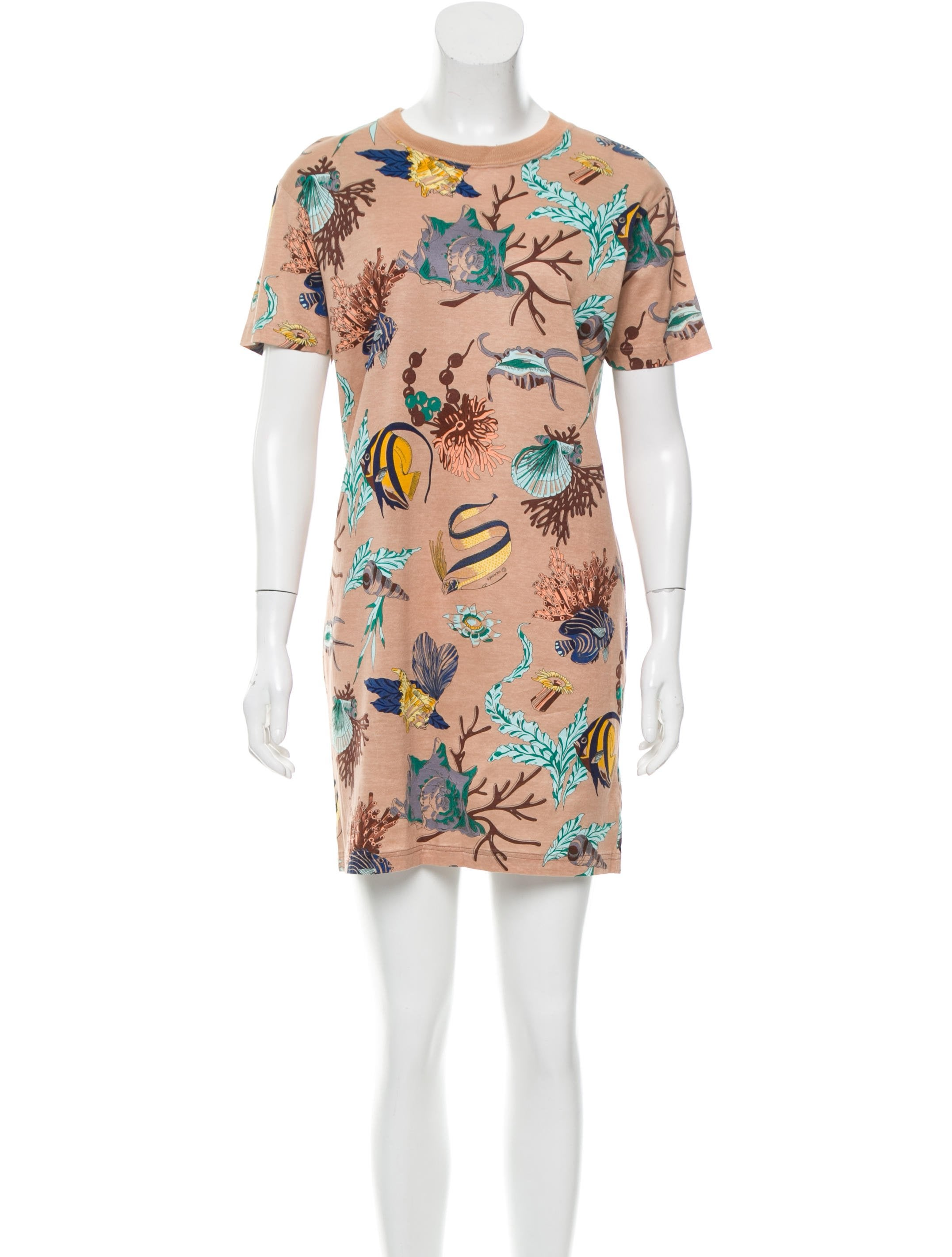 Herm s fish print mini dress clothing her93174 the for Fish print dress