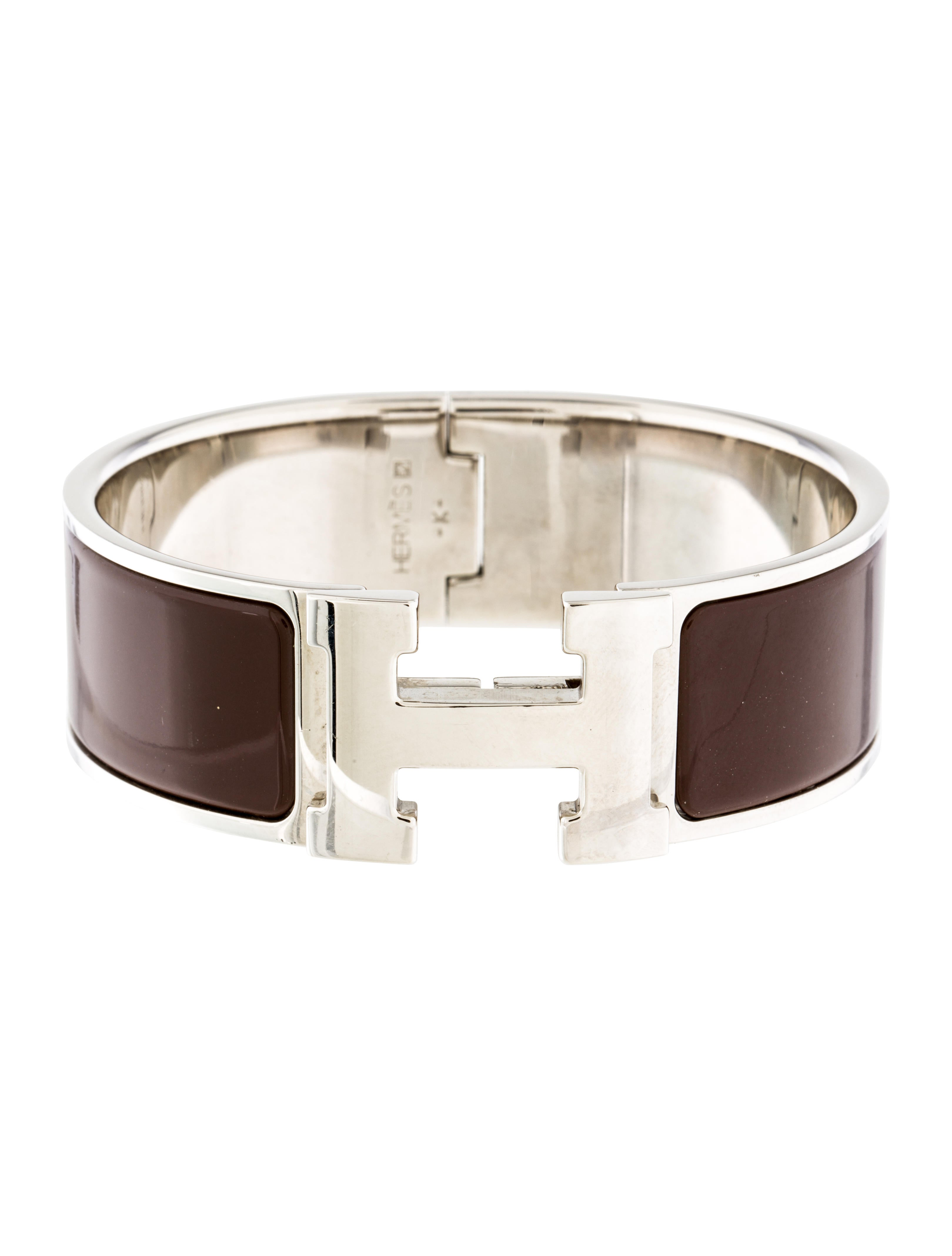 herm 232 s wide clic clac h bracelet bracelets her93258 the realreal