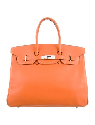 Birkin bag 35 orange