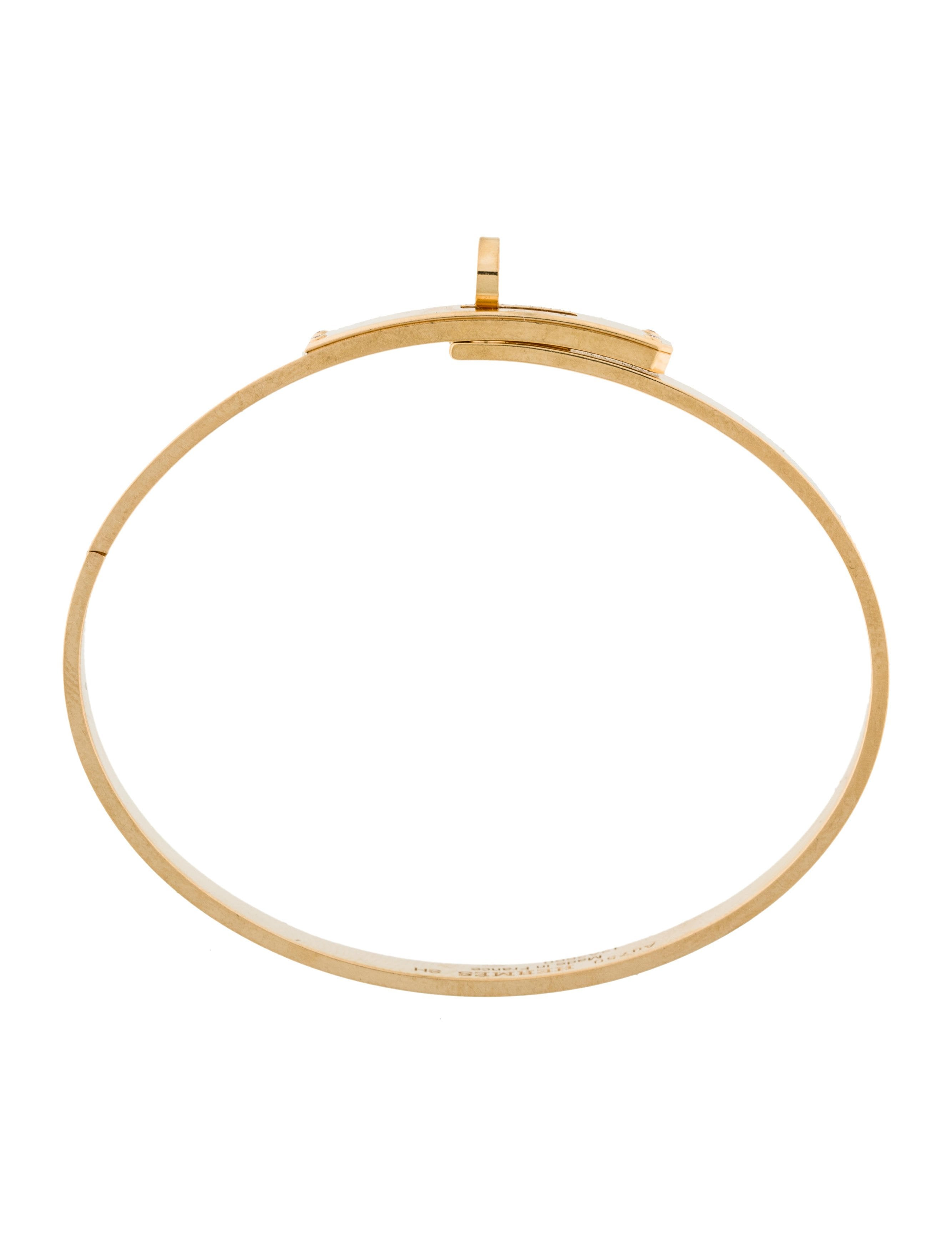 herm s 18k diamond kelly bangle bracelet bracelets. Black Bedroom Furniture Sets. Home Design Ideas