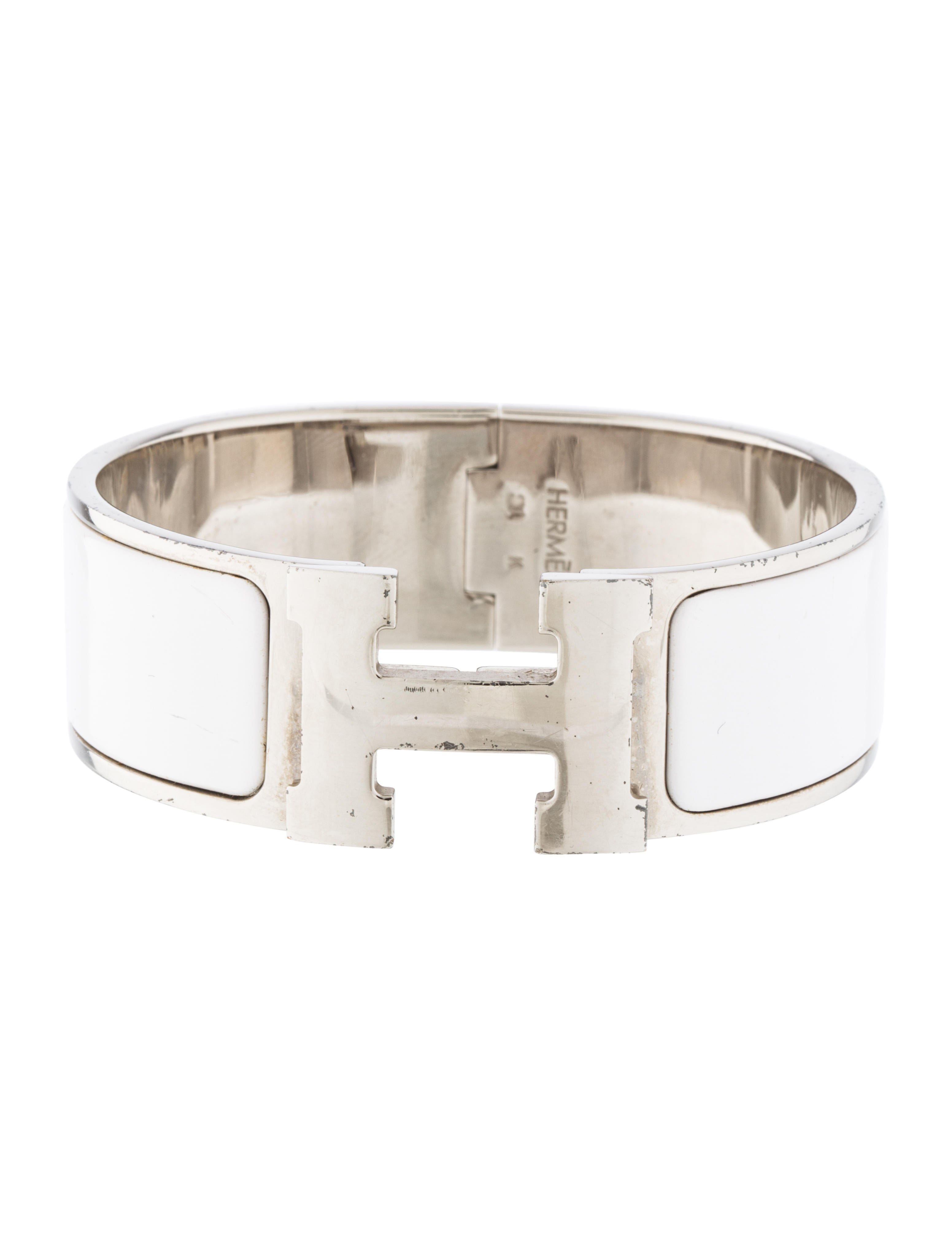 herm 232 s wide clic clac h bracelet bracelets her94258 the realreal