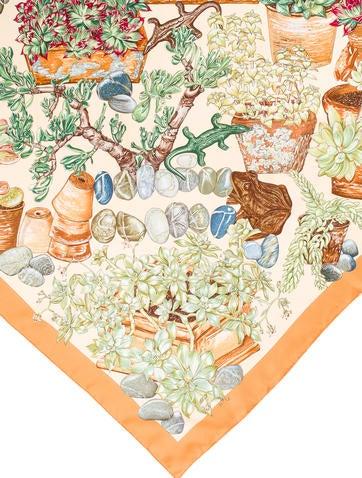 Herm s jardin secret silk scarf accessories her94922 for Jardin secret