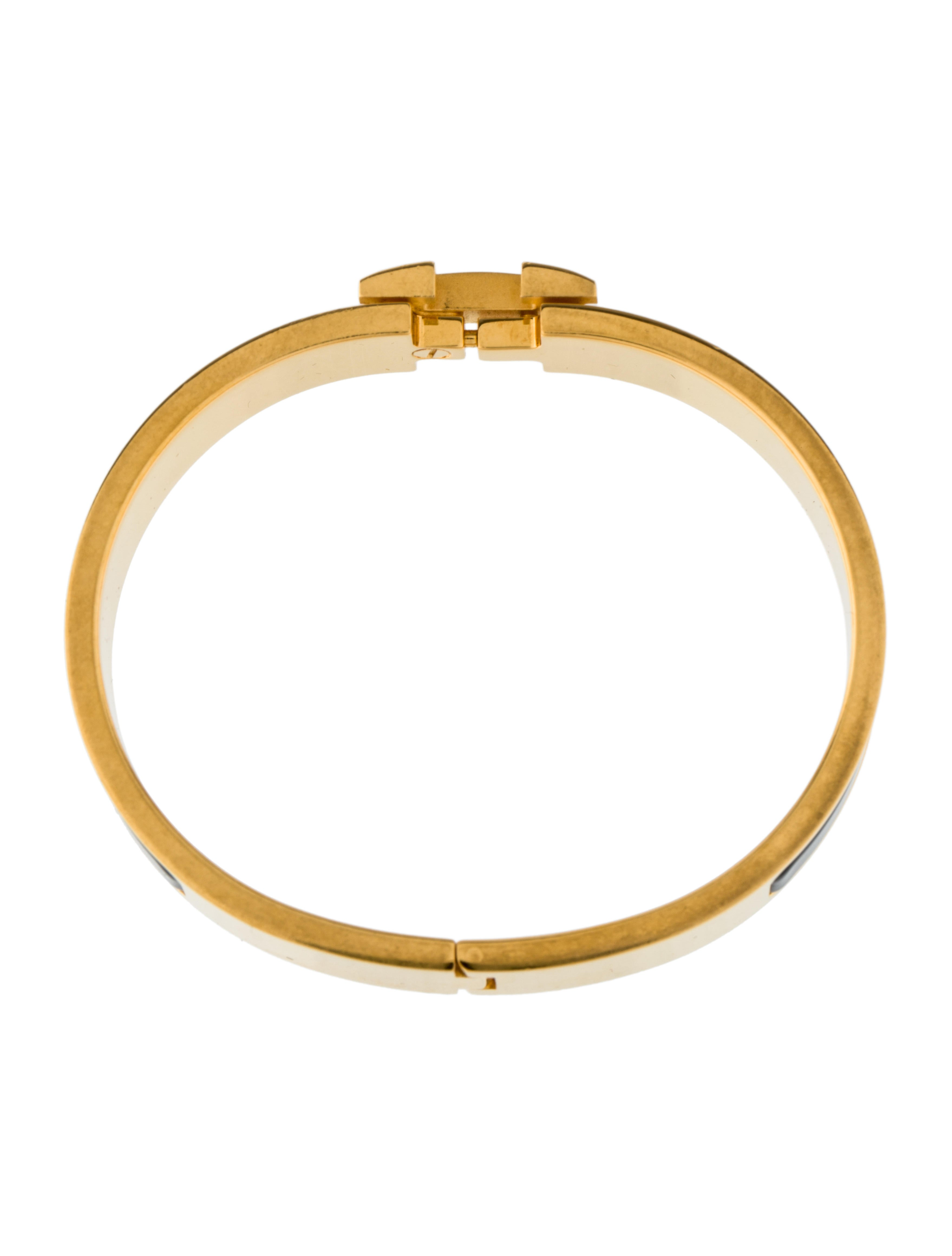 herm 232 s narrow clic clac h bangle bracelet bracelets her95555 the realreal