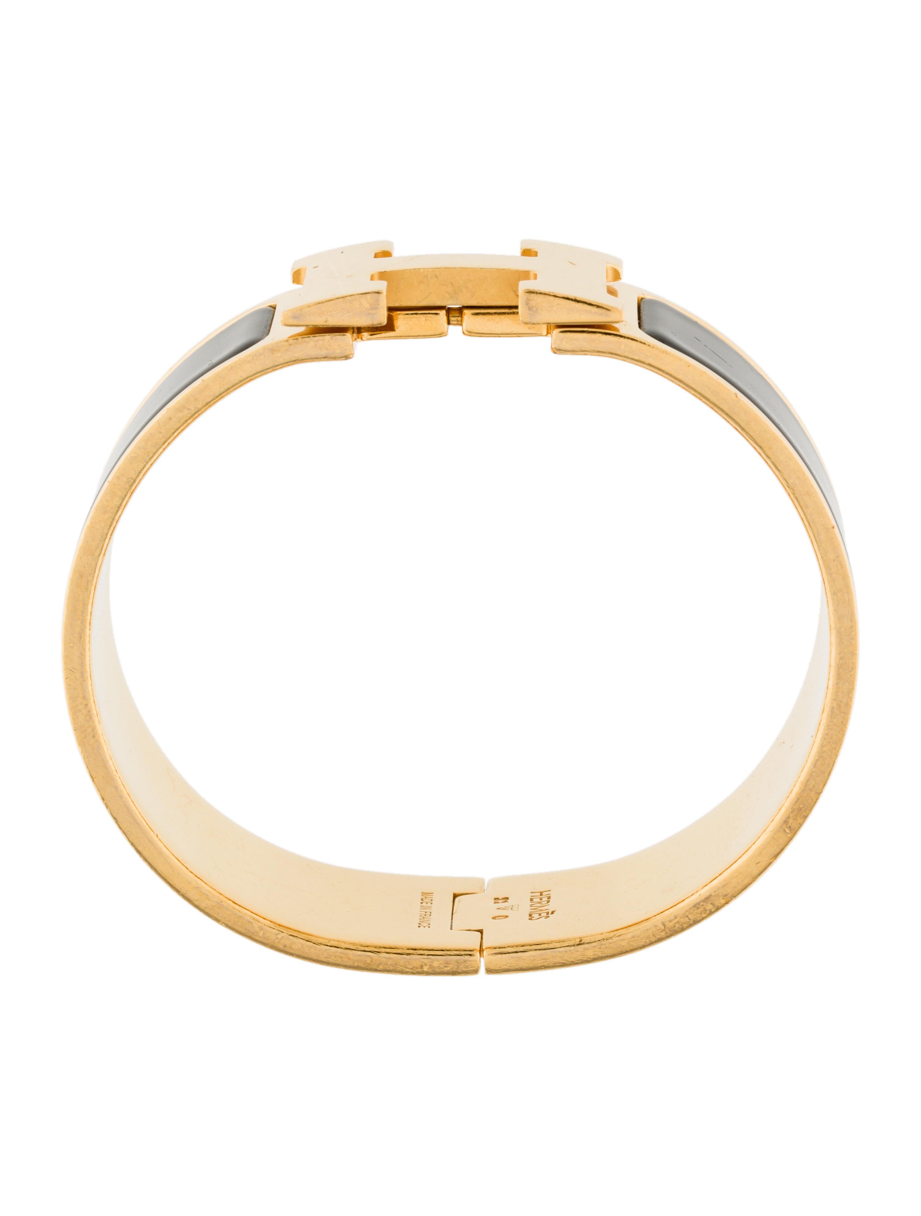 herm s wide clic clac h bracelet bracelets her95755. Black Bedroom Furniture Sets. Home Design Ideas