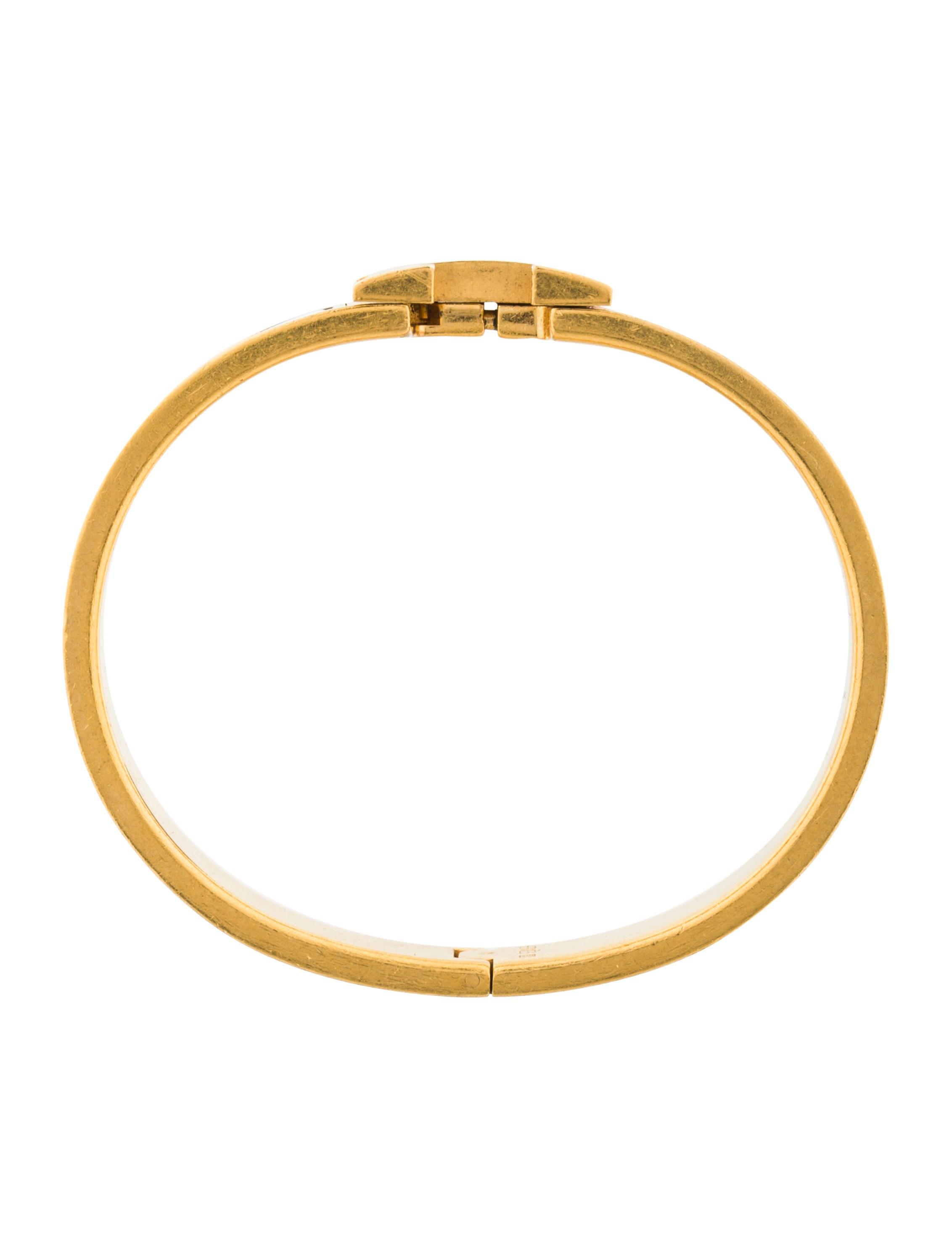 herm 232 s narrow clic clac h bracelet bracelets her96324 the realreal