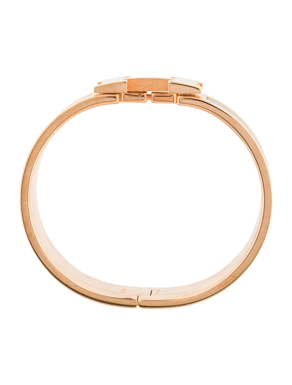 herm 232 s clic clac h wide enamel bracelet bracelets her97585 the realreal