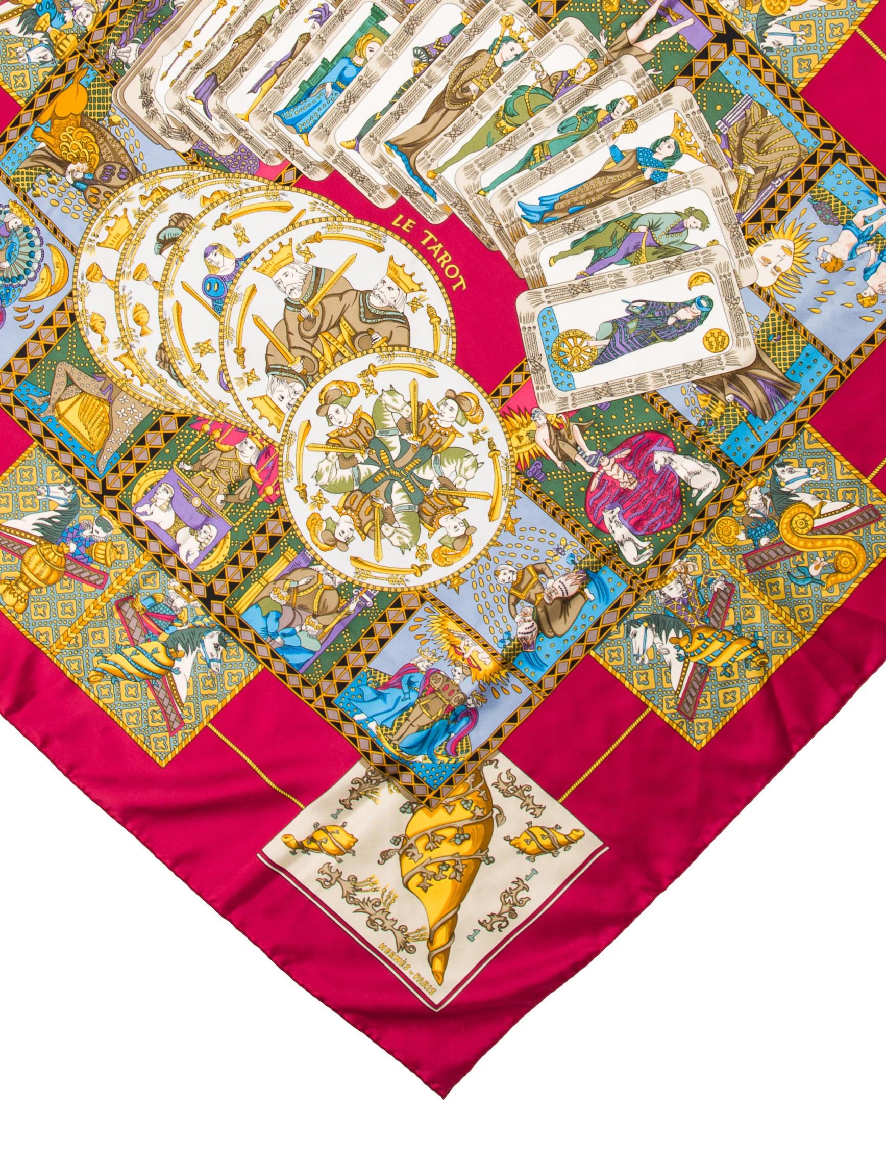 Le Tarot Egyptien De Dusserre: Hermès Le Tarot Scarf - Accessories - HER97790