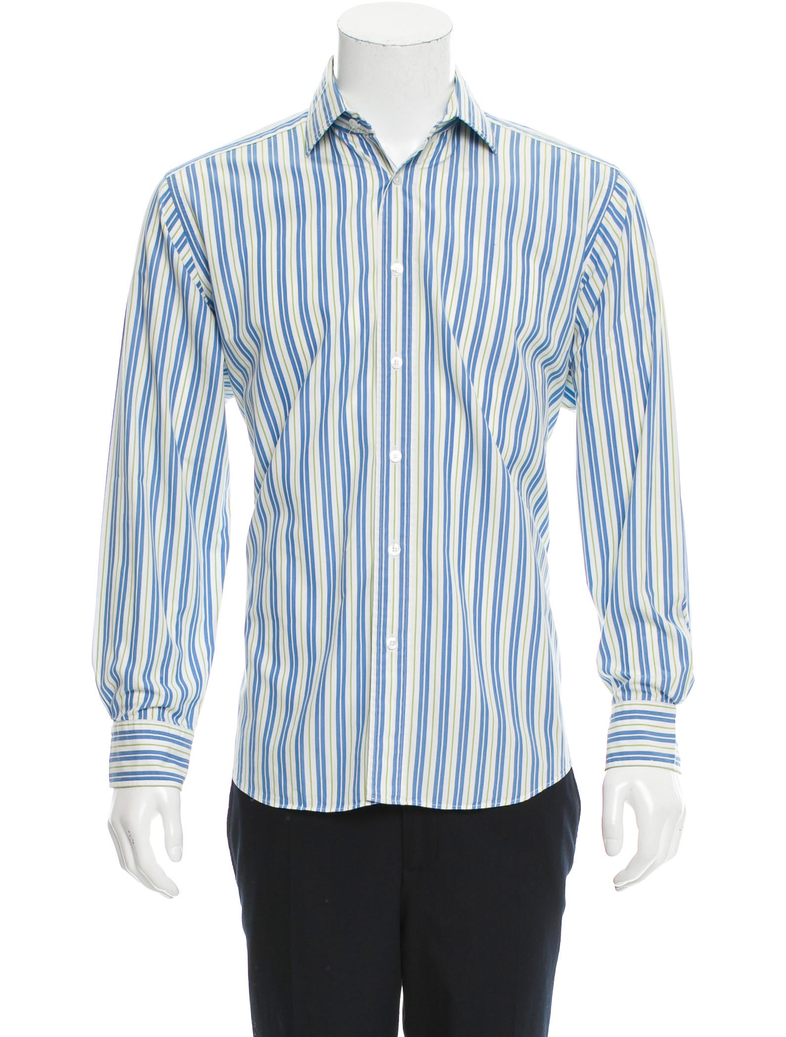 Herm s striped button up shirt clothing her98362 the for Striped button up shirt mens