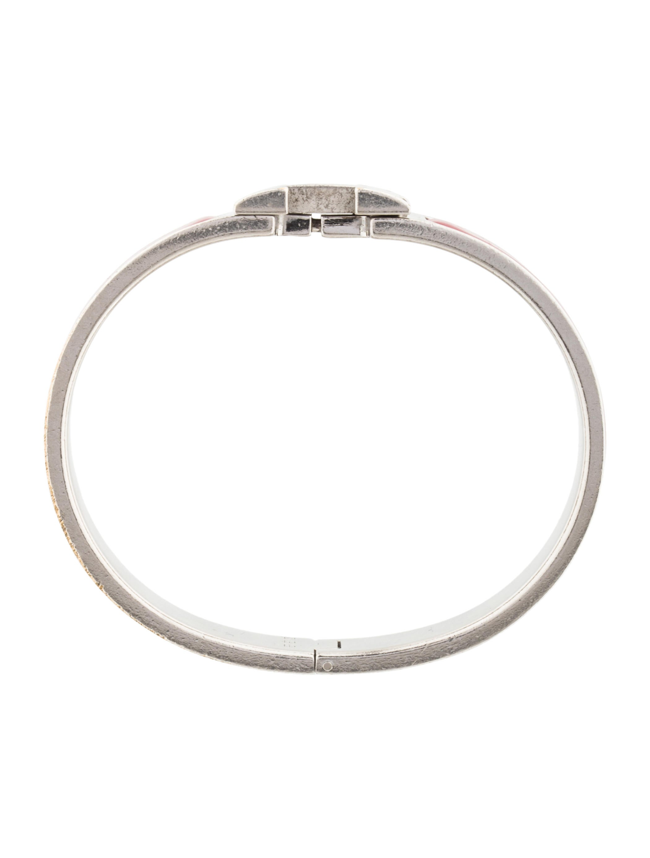 herm 232 s narrow clic clac h bracelet bracelets her98570 the realreal