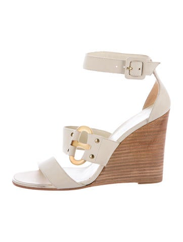 Hermès Suede Wedge Sandals None