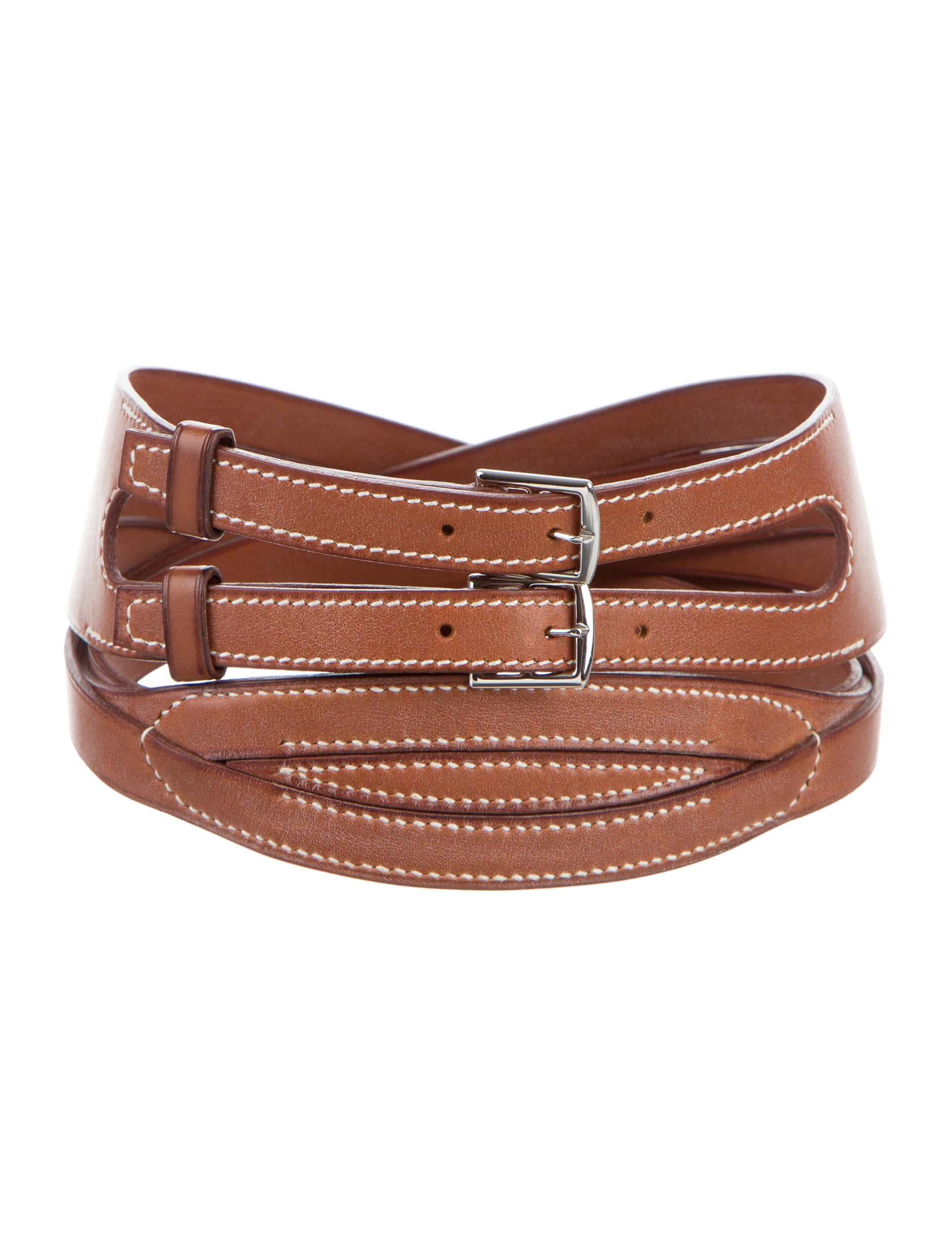 Herm 232 S Barenia Woven Leather Belt Accessories Her99735