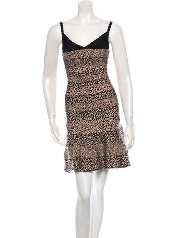 Herve Leger Nell Bandage Dress None