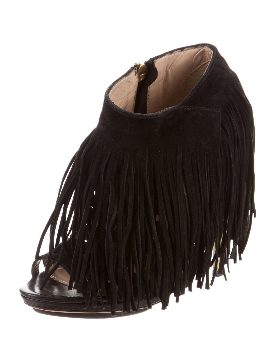 Herve Leger Frayah Fringe Ankle Boots - Shoes - HEV24146   The ...