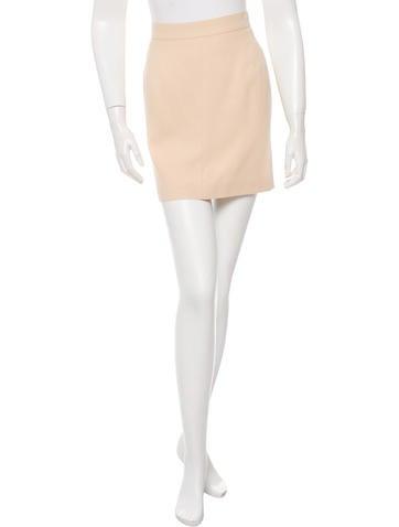 herve leger mid rise knee length skirt clothing