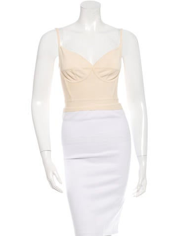 Herve Leger Bandage Bralette Top None