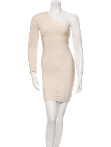 Herve Leger Alinee One-Shoulder Dress None