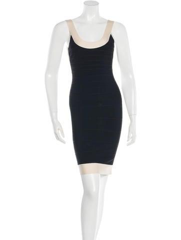 Herve Leger Gwyneth Bandage Dress None