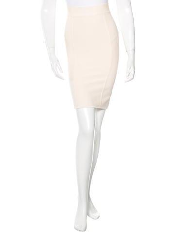 Herve Leger Pencil Bandage Skirt None