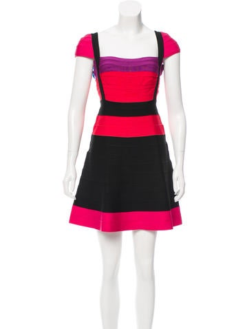 Herve Leger Lola Colorblock Dress w/ Tags None