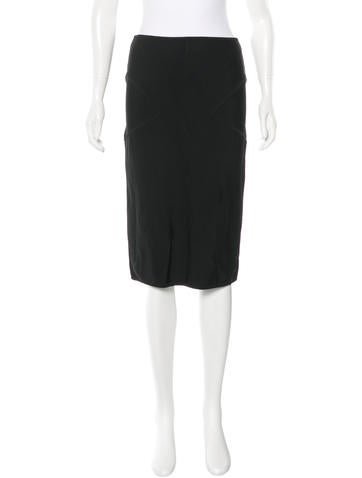 Herve Leger Lace-Paneled Knit Skirt None