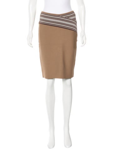 Herve Leger Bodycon Knee-Length Skirt None