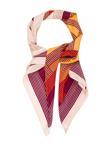 Silk Striped Scarf