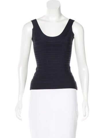 Herve Leger Katie Sleeveless Top None