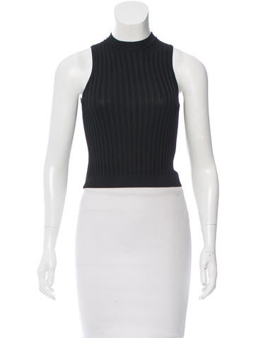 Herve Leger Rib Knit Crop Top None