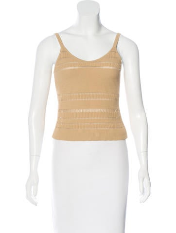 Herve Leger Cable Knit Sleeveless Top None
