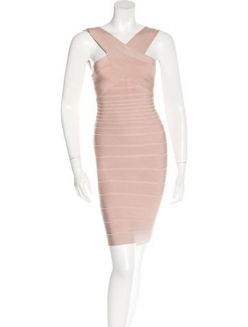 Herve Leger Stella Bandage Dress None
