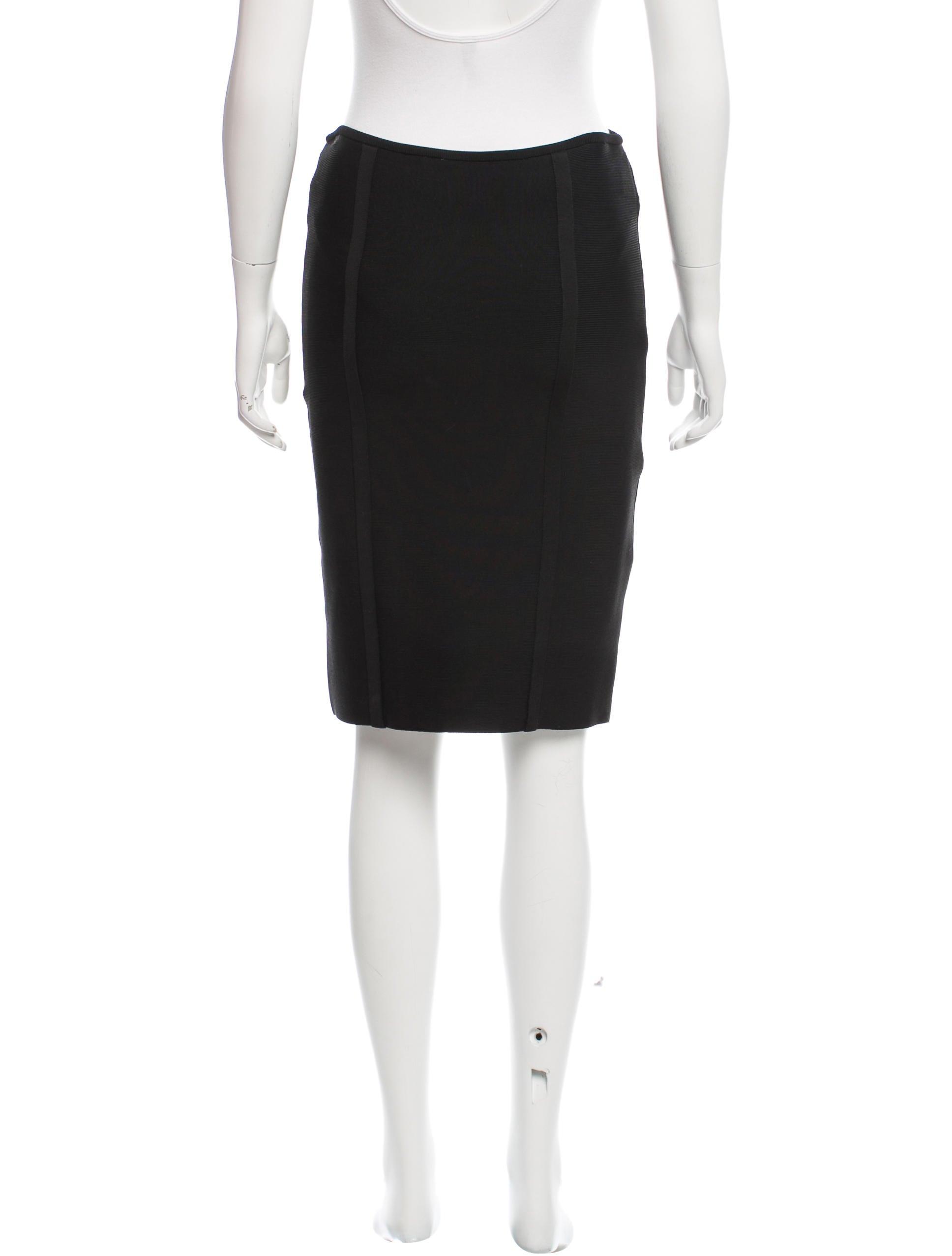 herve leger knee length bodycon skirt clothing