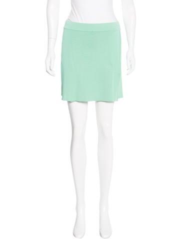 Herve Leger Knit Mini Skirt None