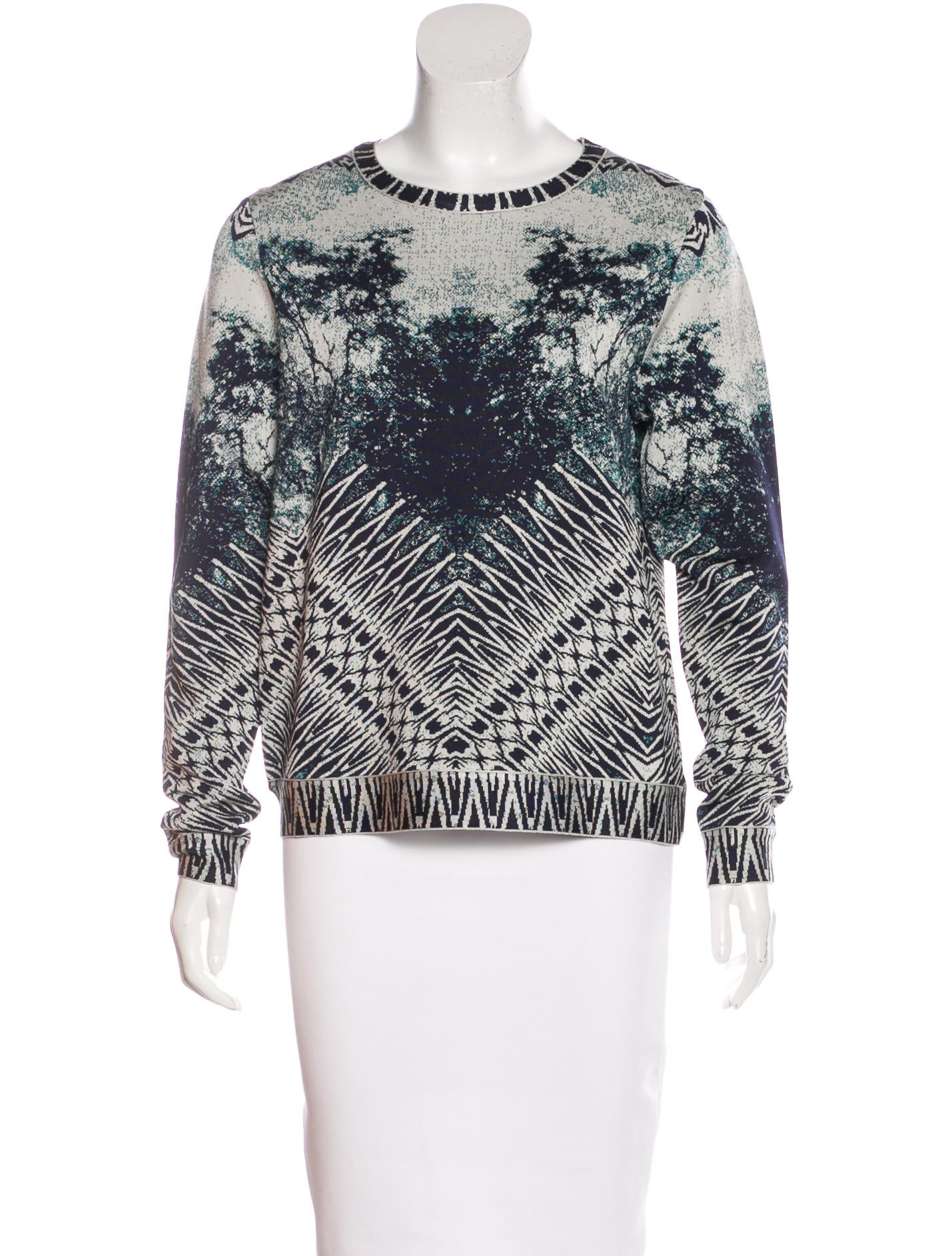 Herve Leger Ronja Jacquard Sweater - Clothing