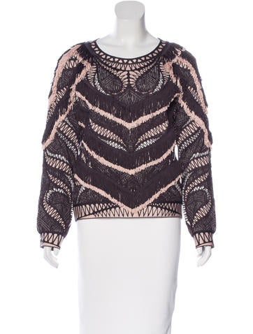 Herve Leger Everly Fringe Top w/ Tags None