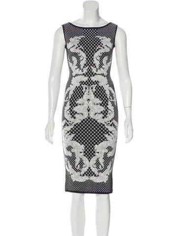 Herve Leger Alexia Jacquard Dress None