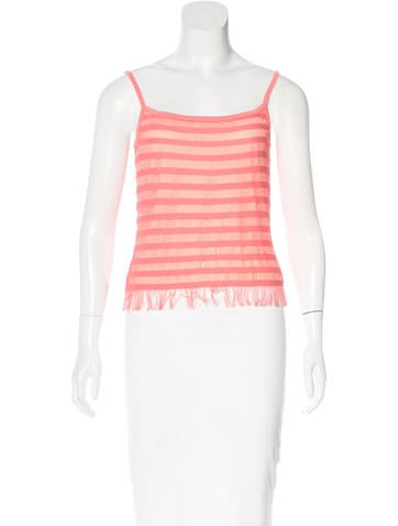 Herve Leger Fringe-Accented Sleeveless Top None
