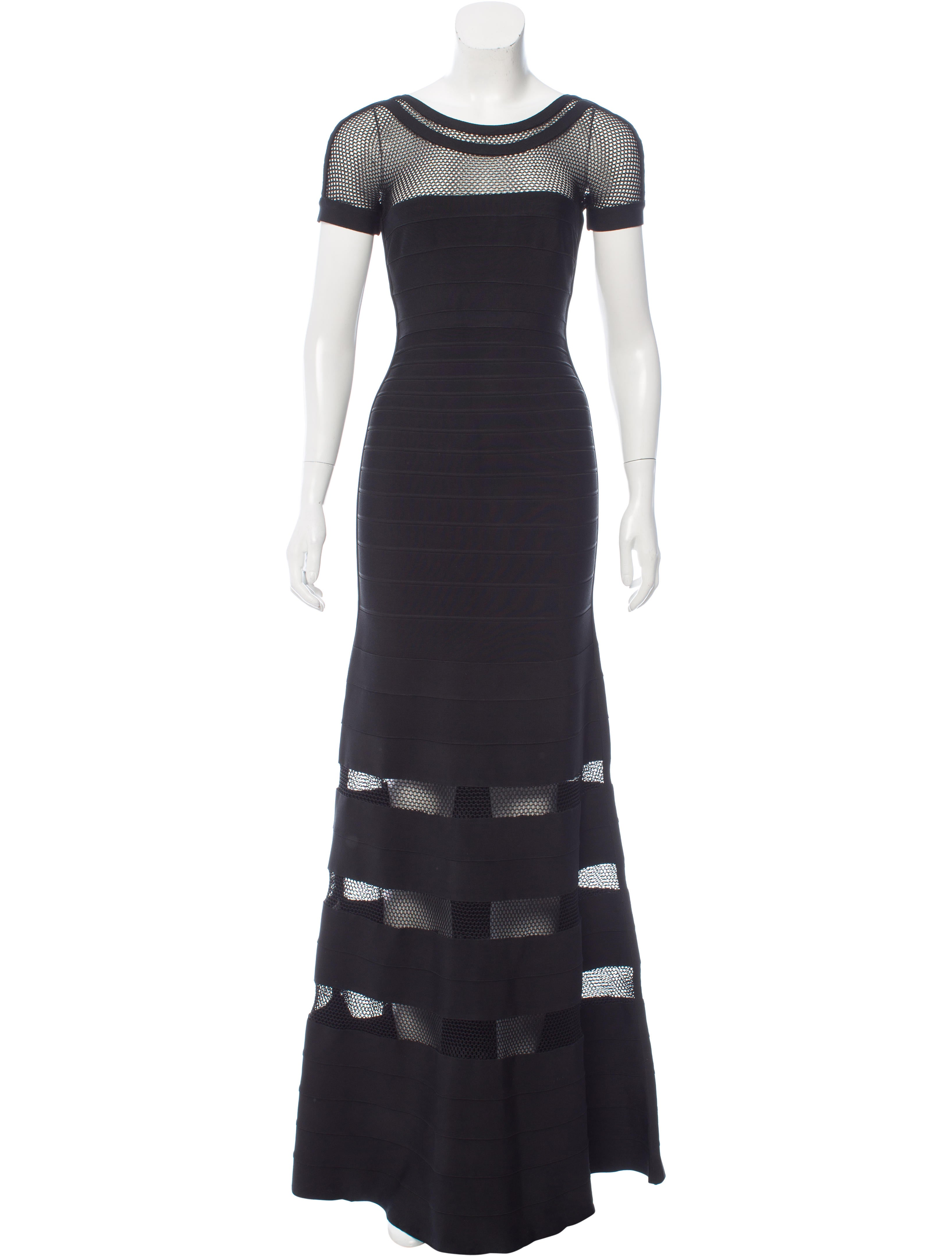 Herve Leger Gweneth Evening Gown - Clothing - HEV29592 | The RealReal