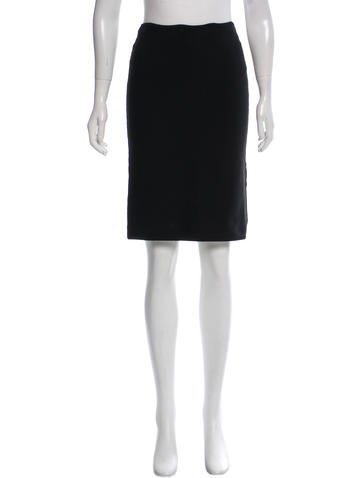 Herve Leger Fitted Pencil Skirt None