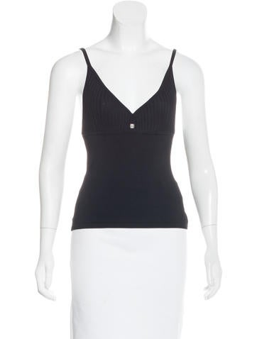 Herve Leger Knit Sleeveless Top None