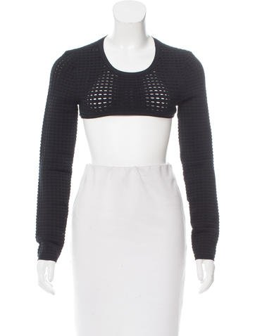 Herve Leger Agatha Crop Top None