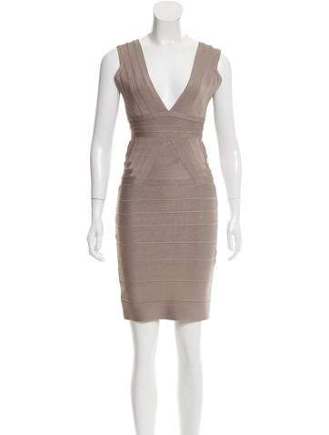 Herve Leger Martina Bandage Dress None
